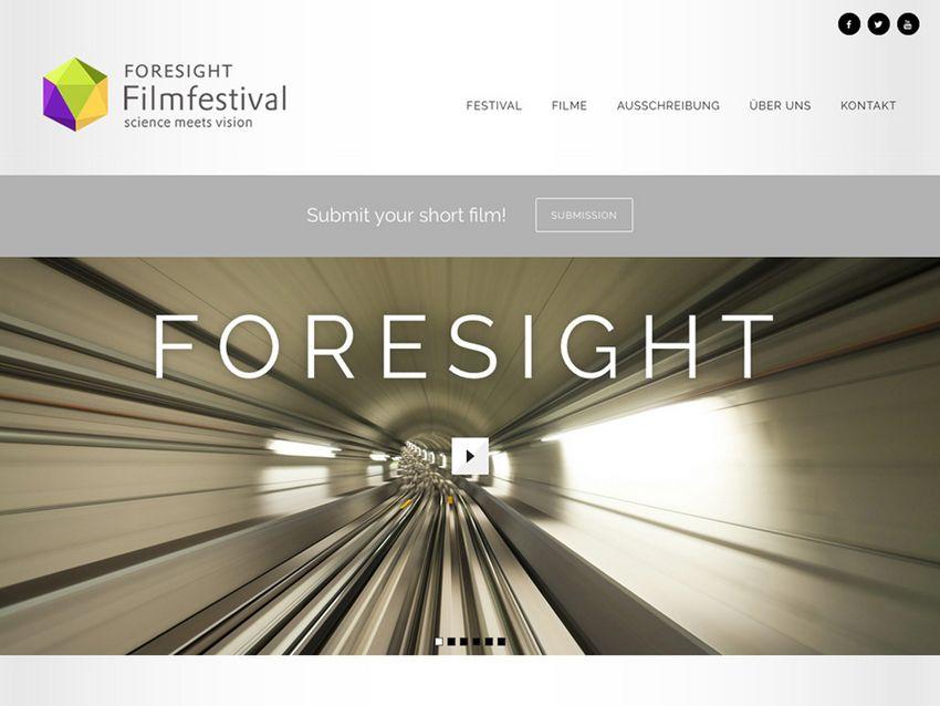 Startseite des Internetauftritts zum Foresight-Filmfestival